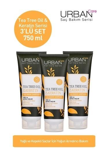 Urban Care Tea Tree Oil & Keratin Saç Bakım Şampuanı x3'lü Avantajlı Set Renksiz